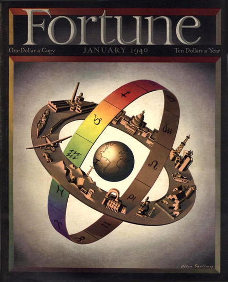 Fortune Magazine Cover Copyright 1940 Signs Of Zodiac | Vintage Ad and Cover Art 1891-1970