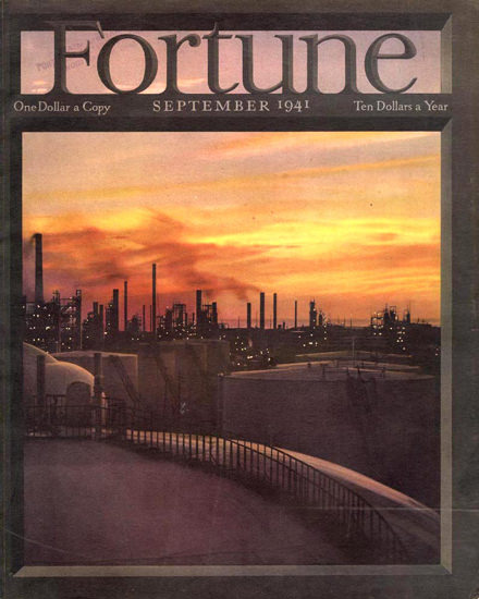Fortune Magazine Cover Copyright 1941 Industrial Area | Vintage Ad and Cover Art 1891-1970