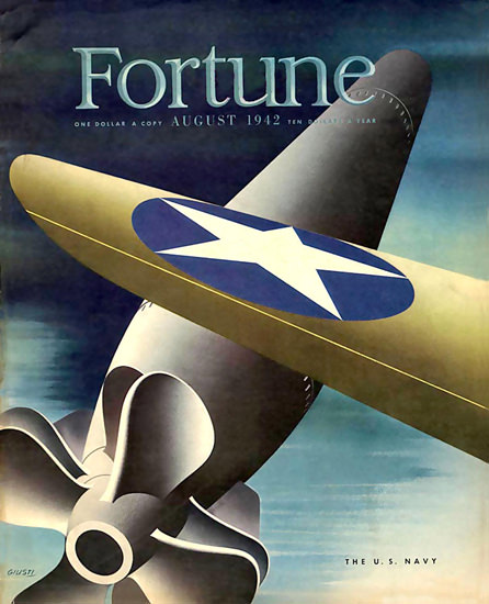 Fortune Magazine Cover Copyright 1942 The US Navy | Vintage Ad and Cover Art 1891-1970