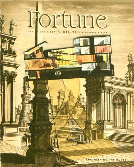 Fortune Magazine Cover Copyright 1943 Engineering House | Vintage Ad and Cover Art 1891-1970