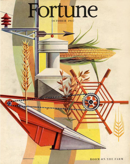 Fortune Magazine Cover Copyright 1947 Boom On Farm | Vintage Ad and Cover Art 1891-1970