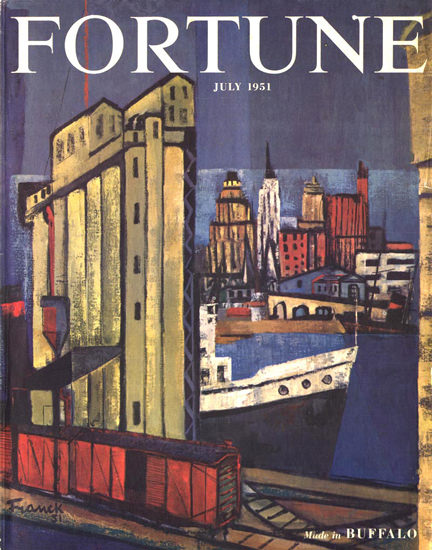 Fortune Magazine Cover Copyright 1951 Made In Buffalo | Vintage Ad and Cover Art 1891-1970