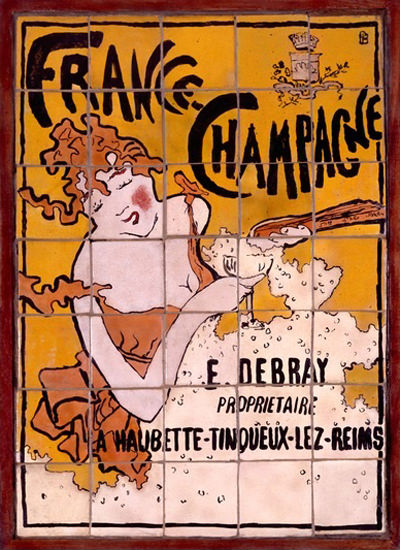France Champagne E Debray Reims Art Nouveau | Sex Appeal Vintage Ads and Covers 1891-1970