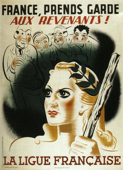 France Prends Garde Aux Revenants Watch Evil | Vintage War Propaganda Posters 1891-1970