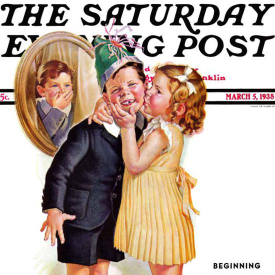 Frances Tipton Hunter Saturday Evening Post 1938_03_05 Copyright crop | Best of Vintage Cover Art 1900-1970