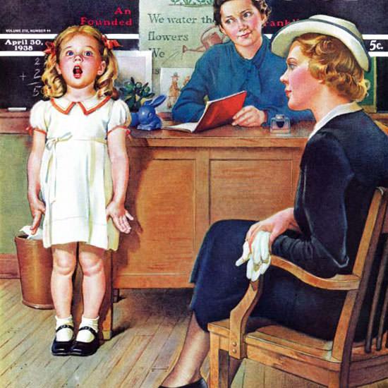 Frances Tipton Hunter Saturday Evening Post 1938_04_30 Copyright crop   Best of Vintage Cover Art 1900-1970