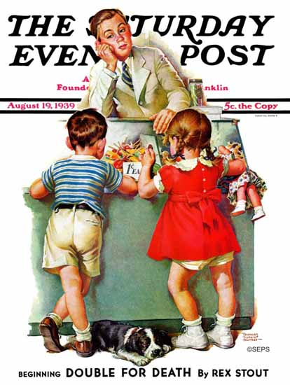 Frances Tipton Hunter Saturday Evening Post Penny Candy 1939_08_19 | The Saturday Evening Post Graphic Art Covers 1931-1969