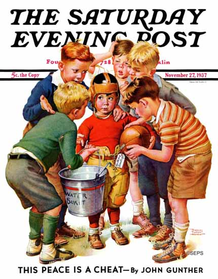 Frances Tipton Hunter Saturday Evening Post The Water Boy 1937_11_27 | The Saturday Evening Post Graphic Art Covers 1931-1969
