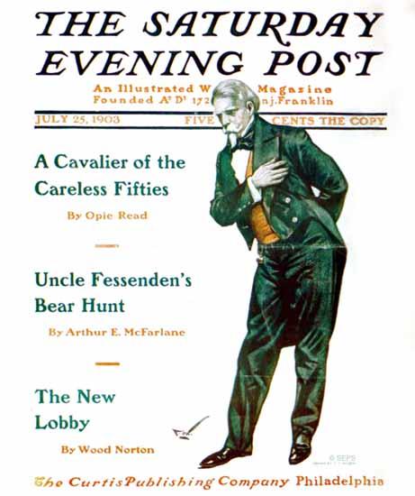 Frances Vaux Wilson Saturday Evening Post Cover Art 1903_07_25 | The Saturday Evening Post Graphic Art Covers 1892-1930