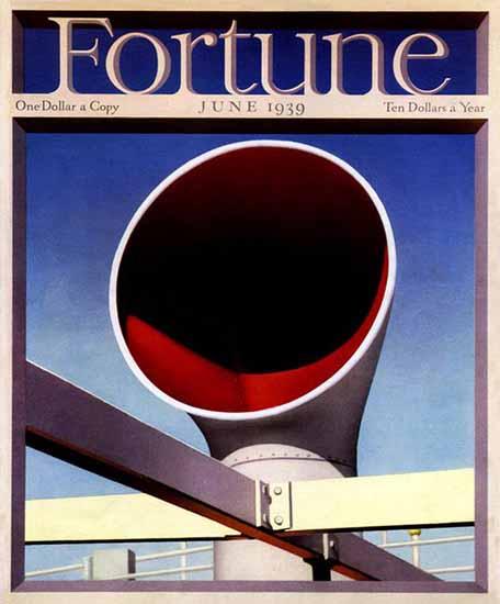 Francis Brennan Fortune Magazine June 1939 Copyright | Fortune Magazine Graphic Art Covers 1930-1959