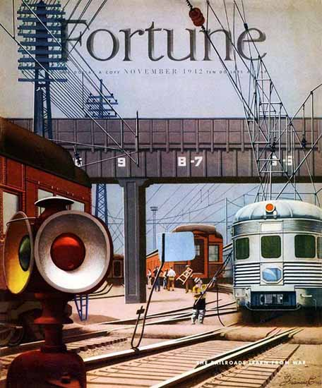 Francis Criss Fortune Magazine November 1942 Copyright | Fortune Magazine Graphic Art Covers 1930-1959