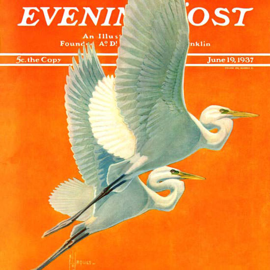Francis Lee Jaques Saturday Evening Post 1937_06_19 Copyright crop | Best of 1930s Ad and Cover Art