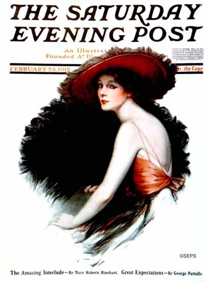 Francis Miller Saturday Evening Post Cover Art 1918_02_23 | The Saturday Evening Post Graphic Art Covers 1892-1930