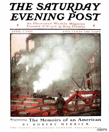 Frank B Masters Saturday Evening Post Cover Art 1905_04_01 | The Saturday Evening Post Graphic Art Covers 1892-1930