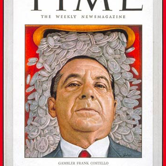 Frank Costello Time Magazine 1949-11 crop | Best of Vintage Cover Art 1900-1970