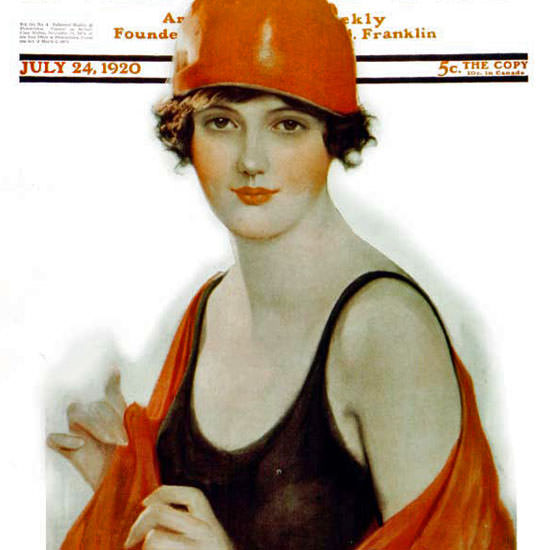 Frank H Desch Saturday Evening Post 1920_07_24 Copyright crop | Best of 1920s Ad and Cover Art