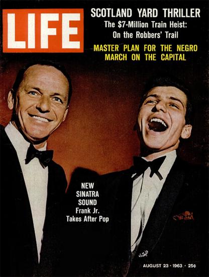Frank Sinatra and Frank Sinatra Jr 23 Aug 1963 Copyright Life Magazine | Life Magazine Color Photo Covers 1937-1970