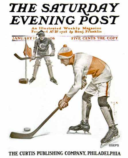 Frank X Leyendecker Cover Artist Saturday Evening Post 1908_01_11   The Saturday Evening Post Graphic Art Covers 1892-1930