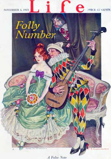 Frank X Leyendecker Life Humor Magazine 1921-11-03 Copyright | Life Magazine Graphic Art Covers 1891-1936