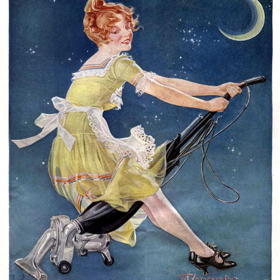 Frank X Leyendecker Life Magazine Witch 1923-10-04 Copyright crop | Best of 1920s Ad and Cover Art
