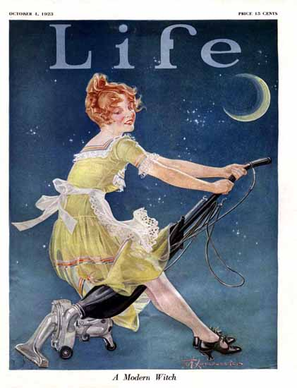 Frank X Leyendecker Life Modern Witch 1923-10-04 Copyright Sex Appeal   Sex Appeal Vintage Ads and Covers 1891-1970