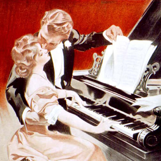Frank X Leyendecker Saturday Evening Post 1907_07_27 Copyright crop | Best of Vintage Cover Art 1900-1970