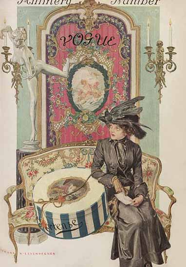 Frank X Leyendecker Vogue Cover 1911-04-01 Copyright | Vogue Magazine Graphic Art Covers 1902-1958