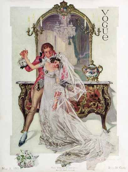 Frank X Leyendecker Vogue Cover 1912-05-01 Copyright Sex Appeal | Sex Appeal Vintage Ads and Covers 1891-1970