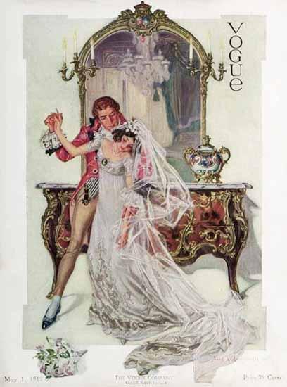 Frank X Leyendecker Vogue Cover 1912-05-01 Copyright | Vogue Magazine Graphic Art Covers 1902-1958