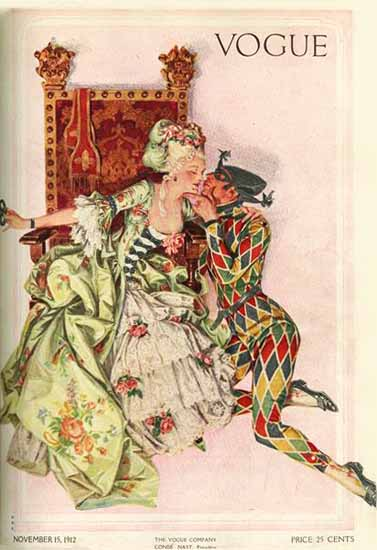 Frank X Leyendecker Vogue Cover 1912-11-15 Copyright   Vogue Magazine Graphic Art Covers 1902-1958