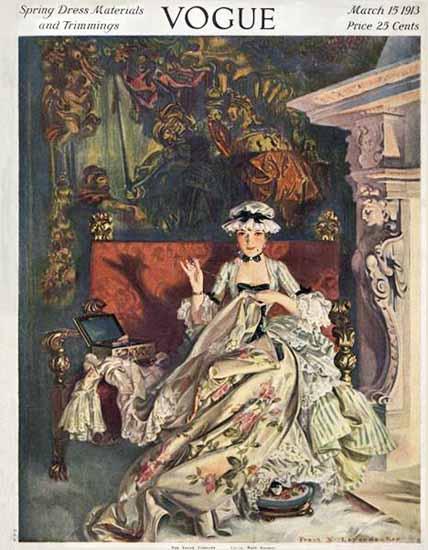 Frank X Leyendecker Vogue Cover 1913-03-15 Copyright | Vogue Magazine Graphic Art Covers 1902-1958