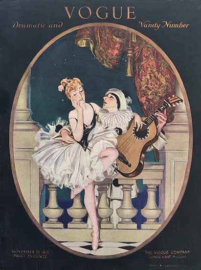 Frank X Leyendecker Vogue Cover 1913-11-15 Copyright | Vogue Magazine Graphic Art Covers 1902-1958