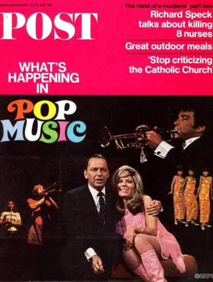 Frank and Nancy Sinatra Saturday Evening Post 1967_07_15 | Vintage Ad and Cover Art 1891-1970