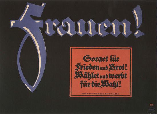 Frauen Fuer Frieden Und Brot Women For Peace | Vintage War Propaganda Posters 1891-1970