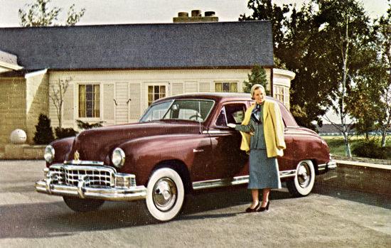Frazer Manhattan 1949 Burgundy | Vintage Cars 1891-1970