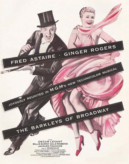 Fred Astaire Ginger Rogers Barkleys Broadway | Sex Appeal Vintage Ads and Covers 1891-1970