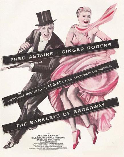 Fred Astaire Ginger Rogers Barkleys Broadway | Mad Men Art