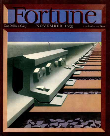 Fred Chance Fortune Magazine November 1939 Copyright | Fortune Magazine Graphic Art Covers 1930-1959