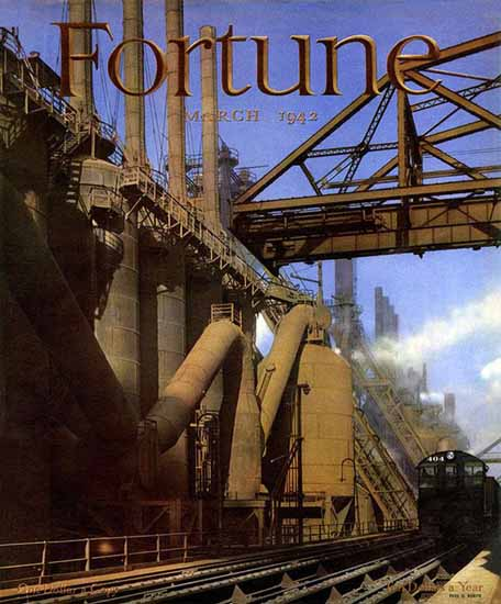 Fred Korth Fortune Magazine March 1942 Copyright | Fortune Magazine Graphic Art Covers 1930-1959