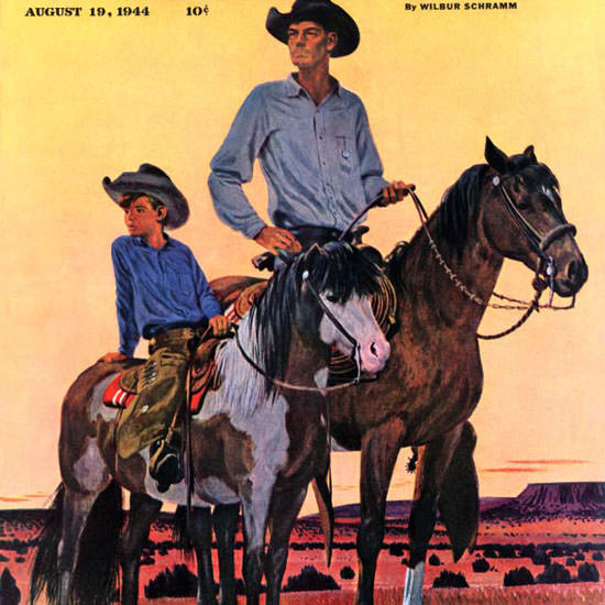 Fred Ludekens Saturday Evening Post Ranch 1944_08_19 Copyright crop | Best of Vintage Cover Art 1900-1970