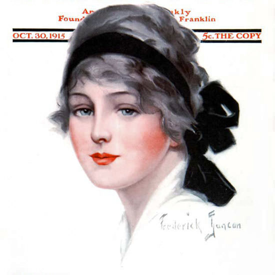 Frederick Duncan Saturday Evening Post Cover 1915_10_30 Copyright crop | Best of 1891-1919 Ad and Cover Art