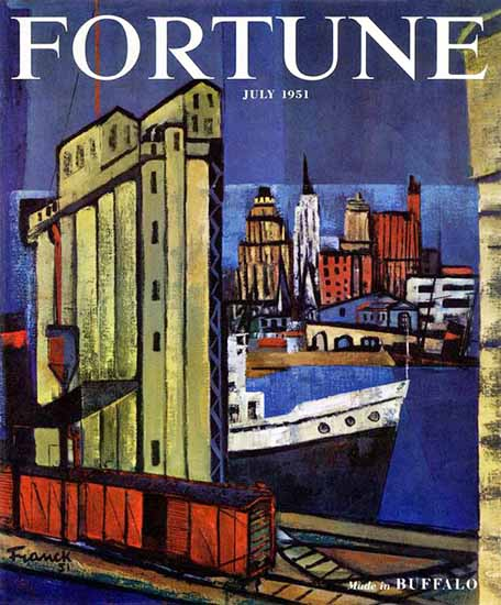Frederick Franck Fortune Magazine July 1951 Copyright | Fortune Magazine Graphic Art Covers 1930-1959