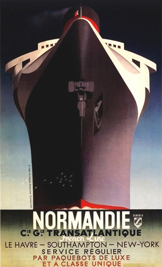 French Line Normandie Le Havre Southampton | Vintage Travel Posters 1891-1970