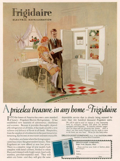 Frigidaire Electric Refrigeration | Sex Appeal Vintage Ads and Covers 1891-1970