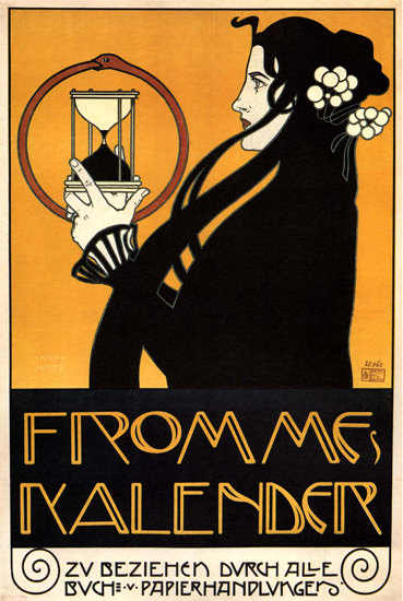 Frommes Kalender Austria Sand Glass Jugendstil | Sex Appeal Vintage Ads and Covers 1891-1970