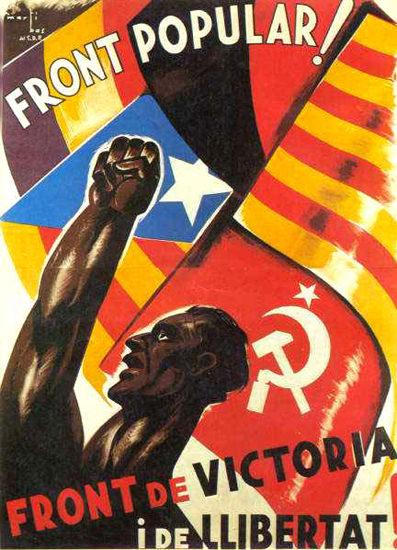 Front Popular Front De Victoria I De Llibertat | Vintage War Propaganda Posters 1891-1970