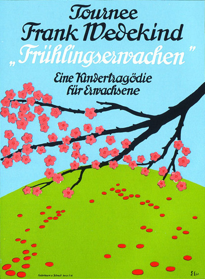 Fruehlingserwachen Frank Wedekind | Vintage Ad and Cover Art 1891-1970