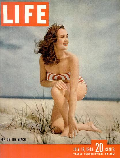 Fun on the Beach 19 Jul 1948 Copyright Life Magazine | Life Magazine Color Photo Covers 1937-1970