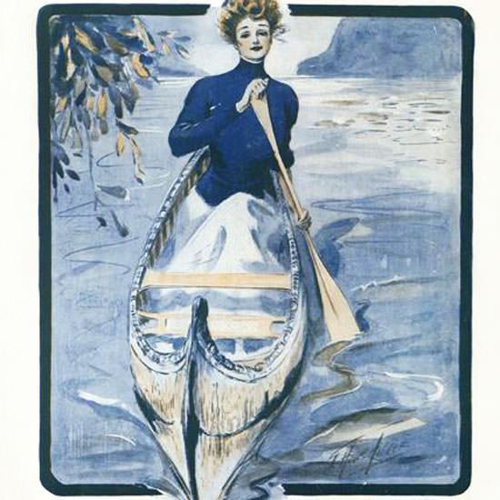 G Howard Hilder Vogue Cover 1908-07-23 Copyright crop | Best of Vintage Cover Art 1900-1970