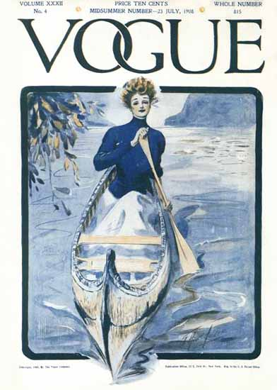 G Howard Hilder Vogue Cover 1908-07-23 Copyright | Vogue Magazine Graphic Art Covers 1902-1958